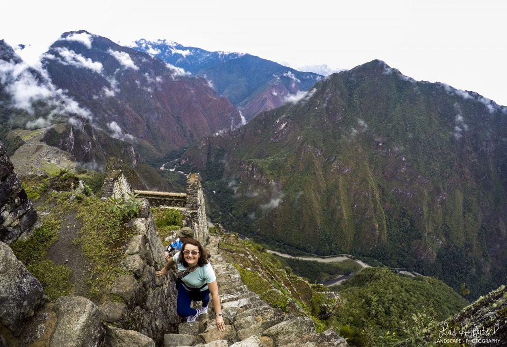 As escadas verticais de Waynapicchu